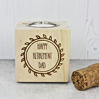 Personalised Retirement Candle Holder