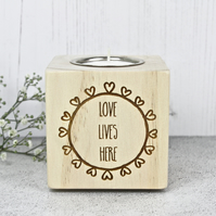Love Lives Here Candle Holder