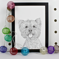 West Highland Terrier Dog Print