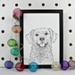 Golden Retriever Dog Portrait Print