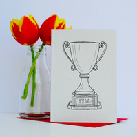Best Dad Trophy Card