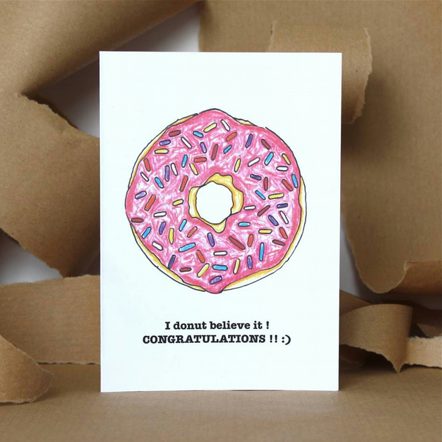 Donut Congratulations Card