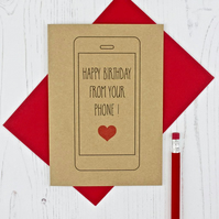 Mobile Phone Lovers Birthday Card