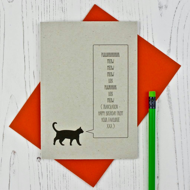 Favourite Cat Birthday Card