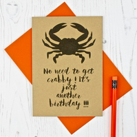 Crab Themed Birthday Card