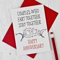Farters Anniversary Card