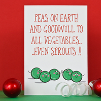 Funny Peace On Earth Christmas Card