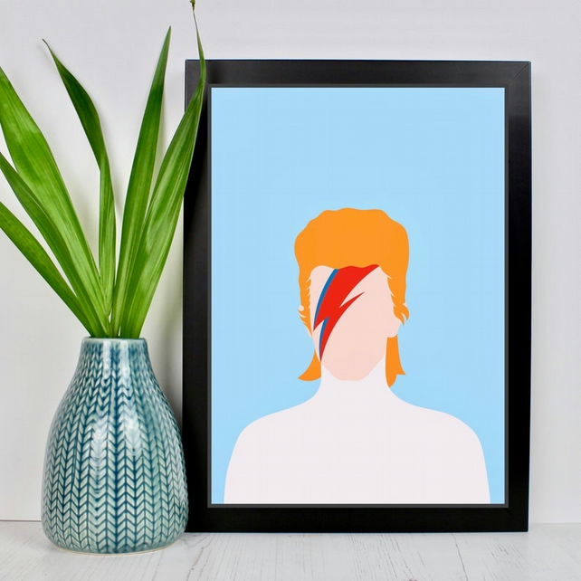 Faceless Pop Icon Portrait Print