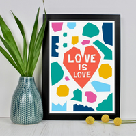 Love Is Love Heart Print