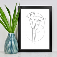 Calla Lily Line Drawing