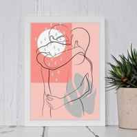 Kissing In The Rain Print