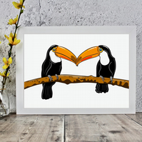 Toucan Birds Art Print
