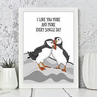 Puffin Bird Love Print