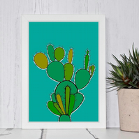 Cactus Plant Illustration Print