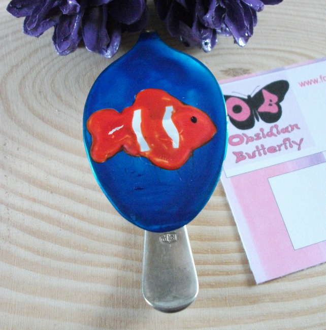 Recycled Silver-Plated Spoon Clown Fish Book Mark