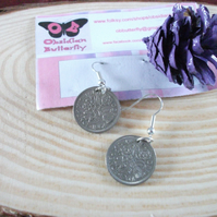 Upcycled Sixpence Earrings
