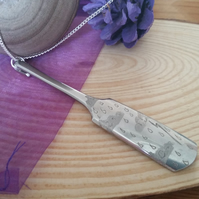 Upcycled Silver Plated Weather Handle Necklace SPN061505