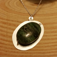 Sterling Silver and Zoisite Necklace