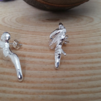 Sterling Silver Splat Earrings