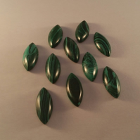 Malachite 24x10mm Marquis Cabochon