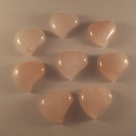 Rose Quartz 25mm Heart Shaped Gemstone Cabochon