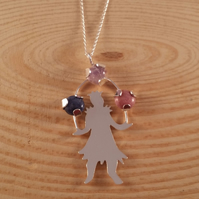 Sterling Silver Juggler Necklace