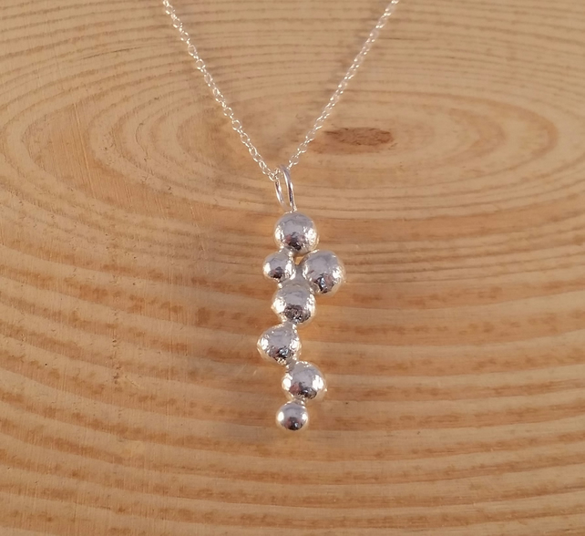 Sterling Silver Boulder Necklace