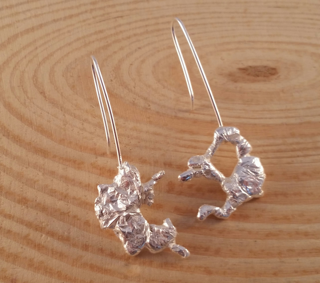 Sterling silver Long Splat Earrings