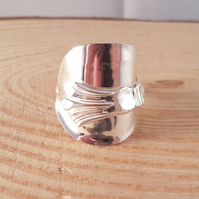 Sterling Silver Upcycled Fan Wrap Spoon Ring