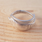 Silver Plated Upcycled Apostle Cake Fork Wrap Around Ring SPR051704