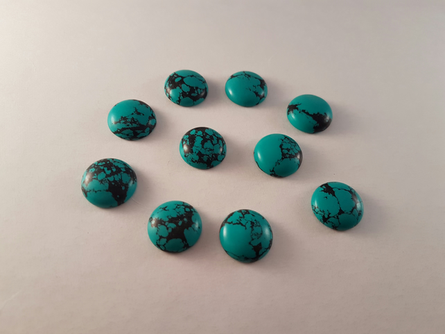 Turquoise 16mm Round Cabochons