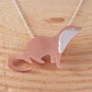 Sterling Silver and Copper Otter Necklace
