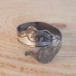 Sterling Silver Badger Cross Over Adjustable Ring