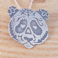 Sterling Silver Etched Sugar Skull Panda Necklace
