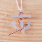 Sterling Silver and Copper Anchor and Rope Necklace