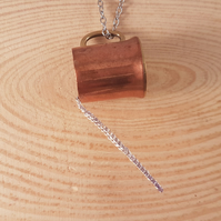 Upcycled Copper Pouring Mug Necklace