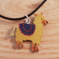 Anodised Aluminium Llama Necklace AAN041809