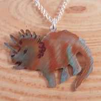 Anodised Aluminium Triceratops Necklace AAN041804