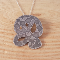 Sterling Silver Etched Snake Necklace