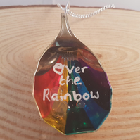 Upcycled Silver Plated Fruit Spoon 'Over The Rainbow' Necklace