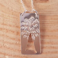Sterling Silver Pierced Tree Necklace