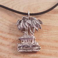 Upcycled Silver Plated Palm Tree Spoon Necklace SPN081820