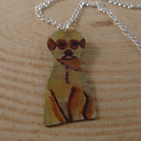 Anodised Aluminium Meerkat Necklace
