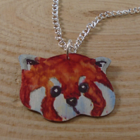 Anodised Aluminium Red Panda Necklace AAN111815