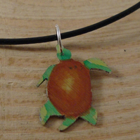 Anodised Aluminium Turtle Necklace AAN111825