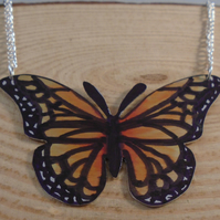 Anodised Aluminium Monarch Butterfly Necklace AAN041901