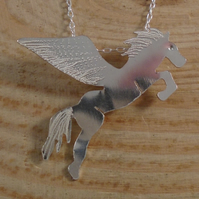Sterling Silver Pegasus Necklace
