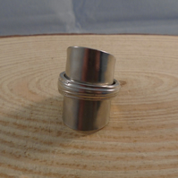 Upcycled Silver Plated Fleur Wrap Spoon Ring SPR051904
