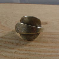 Upcycled Silver Plated Vintage Wrap Mustard Spoon Ring