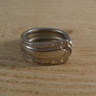 Upcycled Silver Plated Fleur Spoon Handle Ring SPR061905